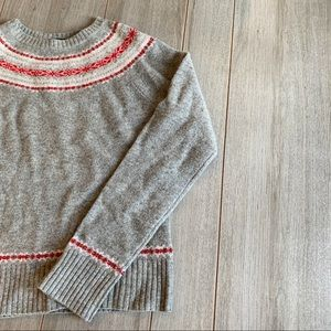 J. Crew Fair Isle Crew Neck Sweater Holiday M